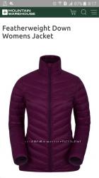 Демисезонная пуховая куртка новая с этикеткой mountain warehouse