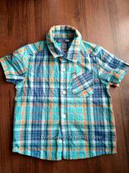 Рубашка H&M до короткого рукава на мальчика 2-3 года лето