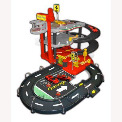 Игровой набор - Гараж FERRARI 3 уровня, 2 машинки 143 18-31204