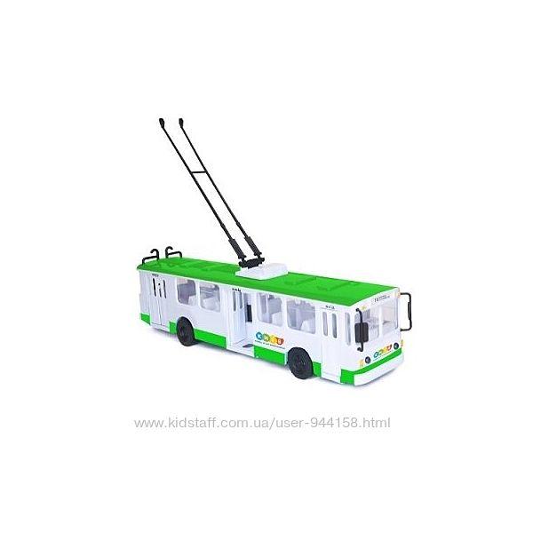 Модель Троллейбус BIG Киев свет, озвуч на украинском языке Технопарк