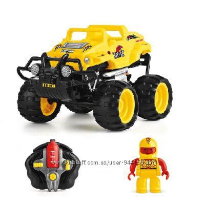 Автомобиль Crash Car на ру - Ти-Рекс желтый, аккум. 4. 8V