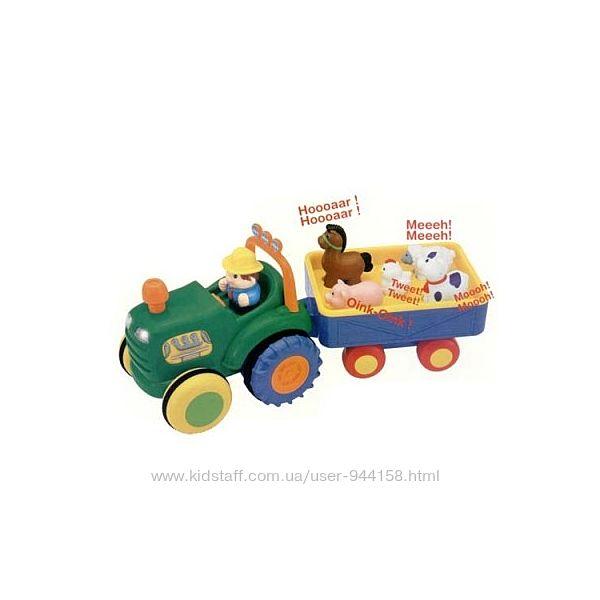 Игрушка на колесах - трактор с трейлером на колесах, свет, озвуч. укр. яз.