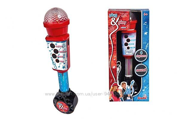 Музыкальный инструмент Микрофон Simba 6834433 с разъемом для Mp3 плеера, 28