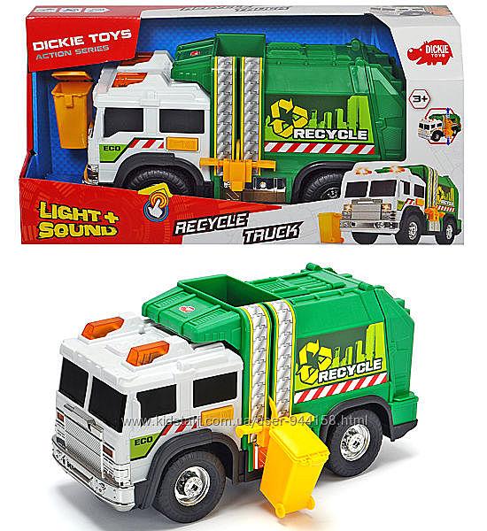 Машинка Dickie Toys Мусоровоз с баком со свет и звук эфф 3306006