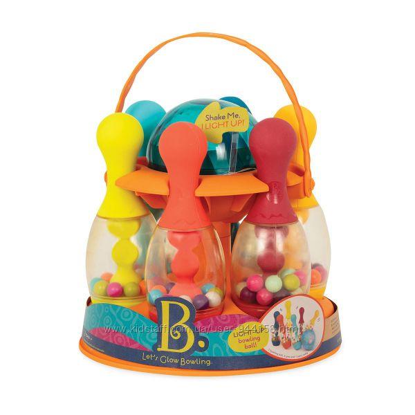 Игровой набор - Сверкающий Боулинг 6 кеглей, шар, подставка