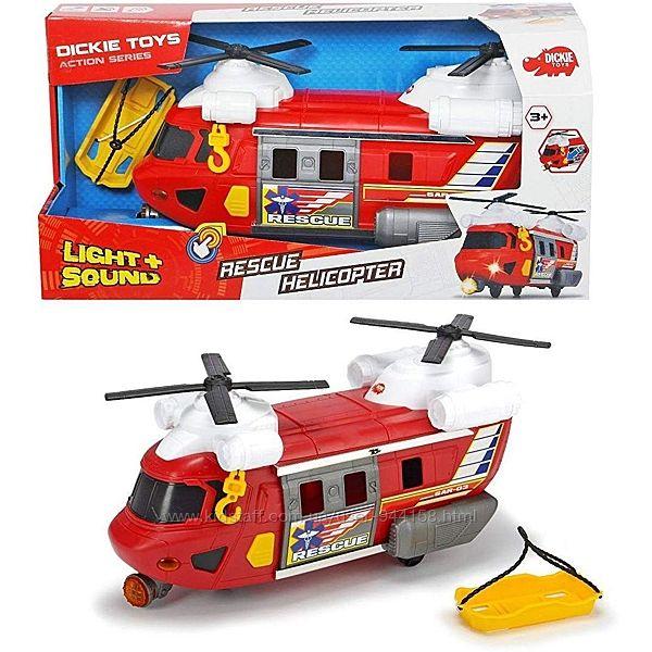 Вертолет Dickie Toys Спасательная служба с лебедкой, звук, свет эфф 3306009