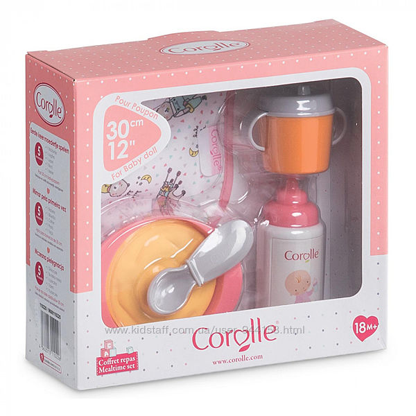 9000110220 Игровой набор по уходу за куклой Corolle Детский завтрак