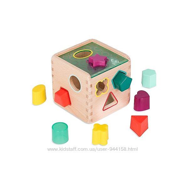 Развивающая деревянная игрушка-сортер - Волшебный Куб Battat