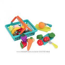 Игровой набор для двоих - Овощи-Фрукты На Липучках в корзинке, 37 предметов