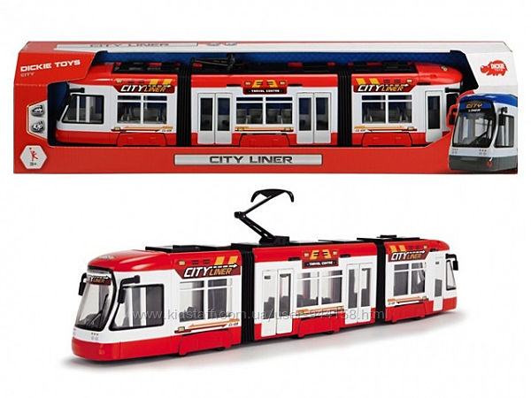 Трамвай Dickie Toys Сити Лайнер 46 см 3749017