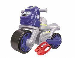 Мотоцикл-Толокар с защитными насадками Big Полиция, синий 56312