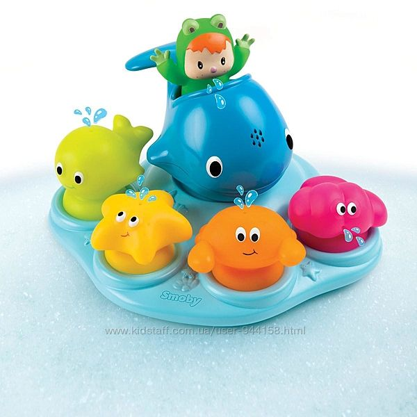 Игровой набор для игры с водой Smoby Cotoons Веселый остров 110608