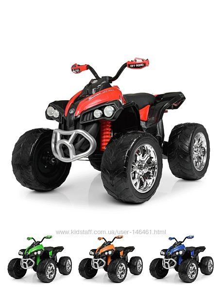 Детский квадроцикл Bambi M 4200EBLR EVA колёса, кожаное сиденье, MP3