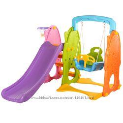 Детские игровые центры домики, горки, качели
