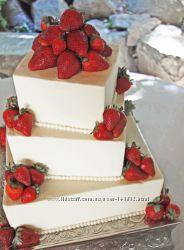 Свадебные и юбилейные торты 200грн за кг.  Доставка