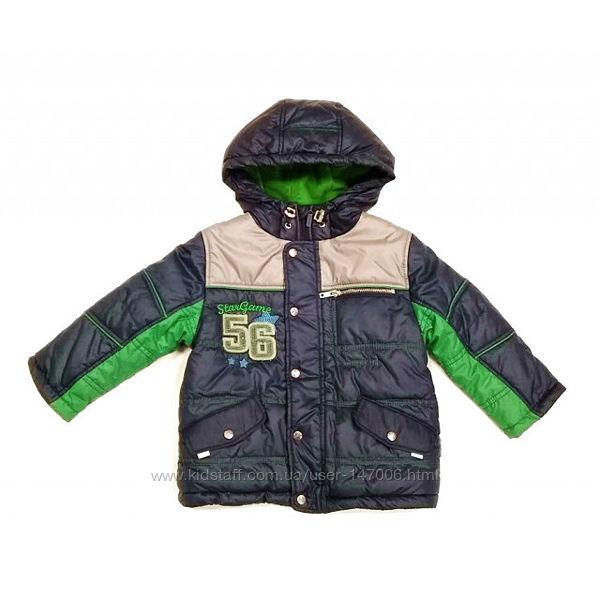 Куртка зимняя для мальчика от ТМ БЕМБИ КТ 105  Размеры - 86, 92, 98