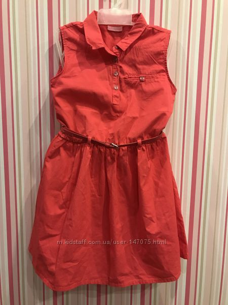 Нарядное коралловое платье Lcwaikiki 128 134 8 9 лет