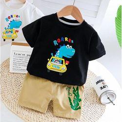 Летние костюмы для мальчика футболка и шорты р.80-120