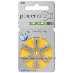 Батарейки для слухового аппарата PowerOne 10 PR70 13 PR48 312 PR41 675 PR44