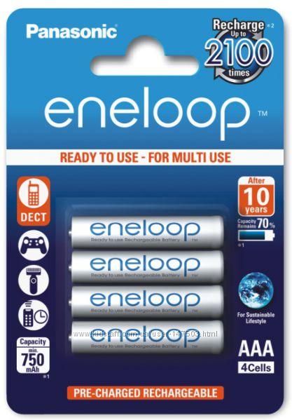 Аккумуляторы Panasonic Eneloop AAA 800 mAh min. 750mah