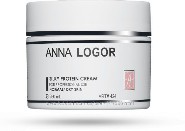 Питательный крем с протеинами шелка 250 мл Анна Логор для сухой кожи