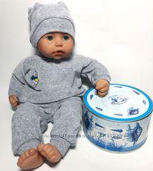 Велюровый костюм для куклы