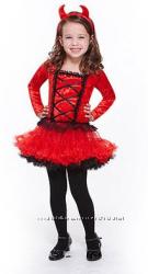 Карнавальное новогоднее платье туту с аксессуарами  чертенка США 5-9 лет