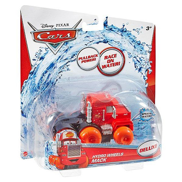 Машина Disney Pixar Cars Hydro Wheels Red. Mattel. Водный гонщик Оригинал