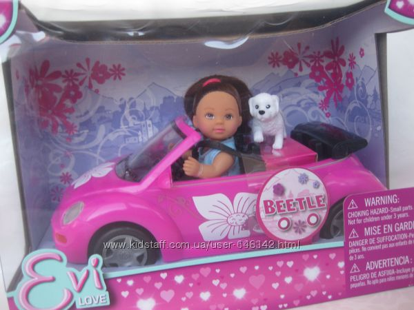 Набор кукла Эви Лав в автомобиле Evi Love Beettle Doll Playset Оригинал 5