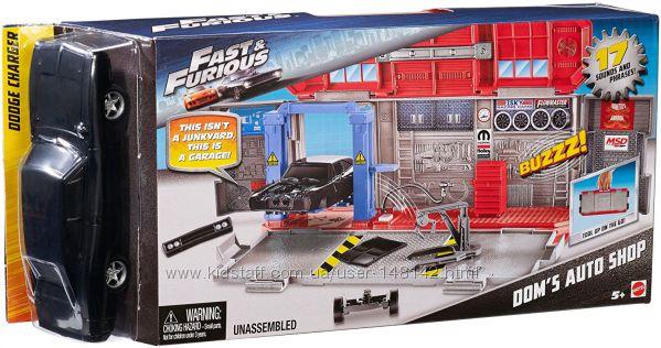 Mattel Fast & Furious Машинка с    переносным гаражом  Додж  Маттел