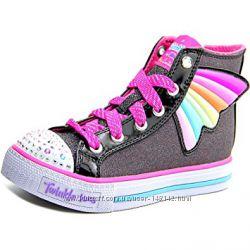 Светящиеся кеды Хайтопы  Skechers Скетчерс Twinkle toes 22 см Оригинал