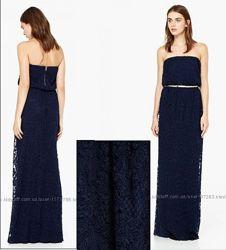 Платье вечернее длинное  макси  кружево Манго  MANGO Мангоаутлет L Испания