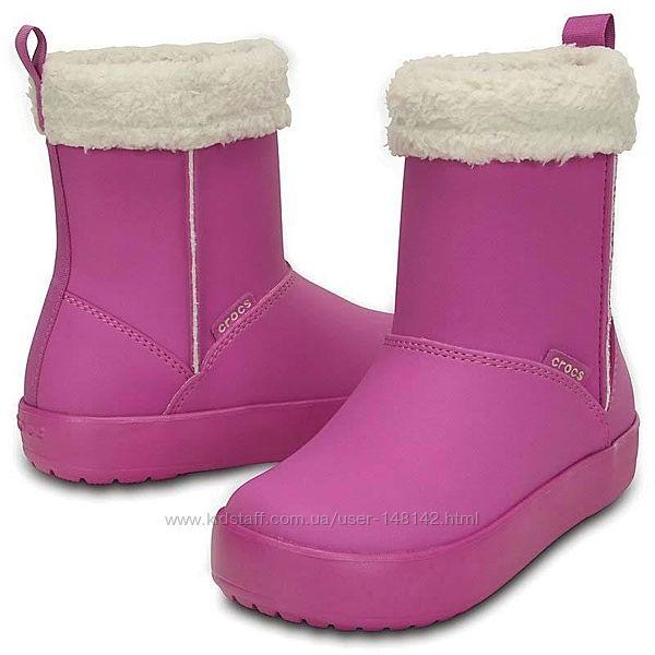 Cапоги демисезонные  Крокс Crocs Colorlite boot gs Оригинал Размер J6 25 см