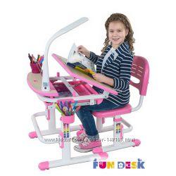 Комплект парта и стул-трансформеры FunDesk Sorriso Blue, Pink  подарки