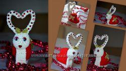 Игрушка вязаная Влюбленная улитка валентинка сердечко