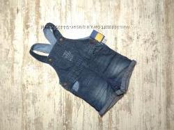 Стильный джинсовый ромпер, комбинезон Lupilu
