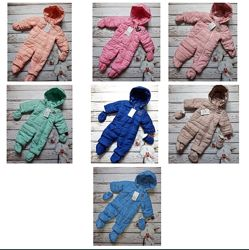 Детский демисезонный комбинезон от рождения до 1 года. Цвета разные