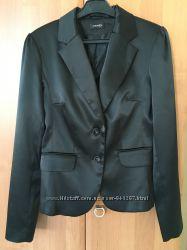 Жакет пиджак Orsay нарядный атласный чёрный легкий на подкладке
