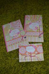 Подарочный набор обложки на свидетельства о рождении и крещении, конверт