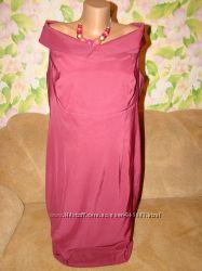 Новое платье марсала на пышные формы 20р.