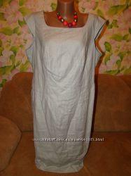 Отличное льняное классическое платье на пышные формы 18р