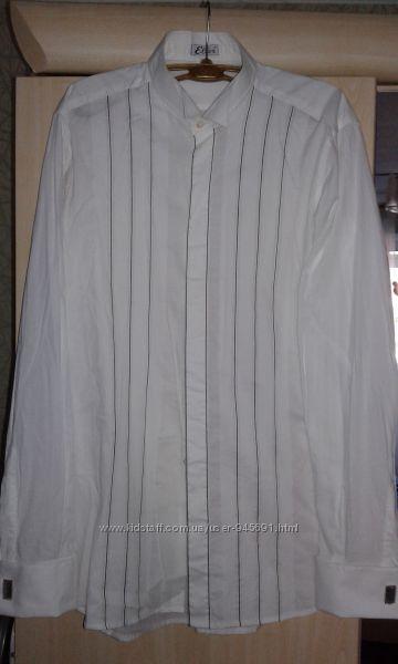 Стильная рубашка  с запанками