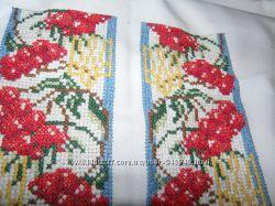Вышиванка -сорочка , вышитая бисером