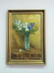 Картина цветы в шикарной рамке