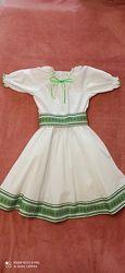 Платье-вышиванка для девочки 8-10 лет