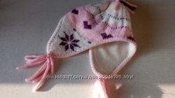 шапочка для малышки розово-фиолетовая