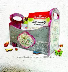 Короб для кухни спецовница конфетница Ручная работа Подарок
