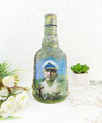 Бутылка интерьерная Ручная работа