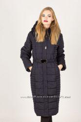 зимние пуховики-пальто большие размеры