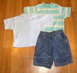 Шорты и футболка для мальчика 3-6 месяцев